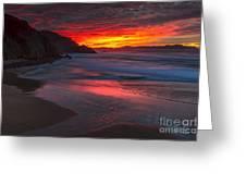 Campelo Beach Galicia Spain Greeting Card