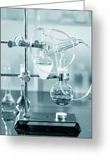 Chemistry Experiment In Lab Greeting Card
