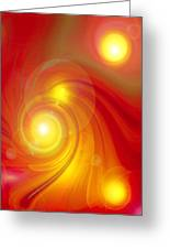 Orange Energy-spiral Greeting Card
