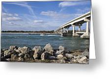 Fishing At Sebastian Inlet In Florida Greeting Card