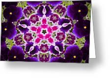 Flower Kaleidoscope Resembling A Mandala Greeting Card