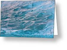 Iceberg Formations Broken Greeting Card