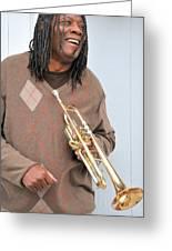 Jazz Musician. Greeting Card