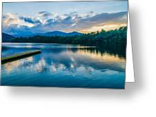 Lake Santeetlah In Great Smoky Mountains North Carolina Greeting Card