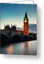 London At Dusk Greeting Card