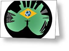 Rio De Janeiro Skyline Greeting Card