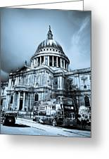 St Paul's Cathedral London Art Greeting Card by David Pyatt