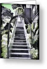 Staircase Leading To A Higher Level In Siloso Hotel In Sentosa Greeting Card