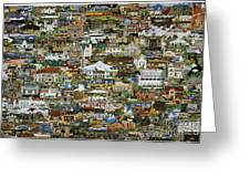 100 Painting Collage Greeting Card