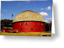 100 Year Old Round Red Barn  Greeting Card
