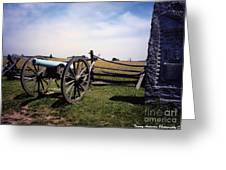10th Mass Battery - Gettysburg Greeting Card