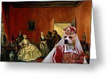 American Staffordshire Terrier Art Canvas Print Greeting Card