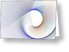 Abstract Line Pattern Greeting Card