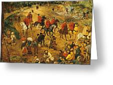 Ascent To Calvary, By Pieter Bruegel Greeting Card