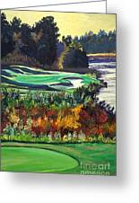 11 At Legacy Links Greeting Card by Frank Giordano