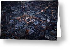 Belfast At Night, Northern Ireland Greeting Card