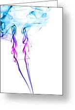 Colourful Smoke Greeting Card