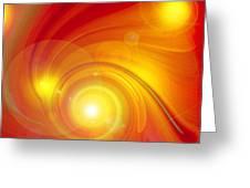 Orange Energy-spiral Greeting Card