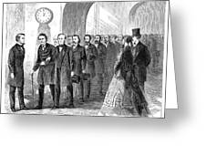 Johnson Impeachment, 1868 Greeting Card