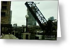 Kinzie Street Bridge Greeting Card