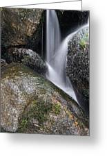 Landscape Of Becky Falls Waterfall In Dartmoor National Park Eng Greeting Card