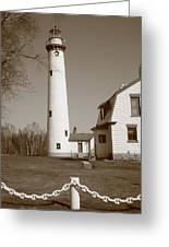 Lighthouse - Presque Isle Michigan Greeting Card