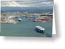 Port Of Tacoma, Tacoma Greeting Card