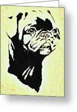 Pug The Dog Greeting Card