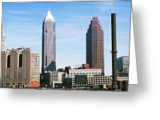Skyscrapers In A City, Philadelphia Greeting Card