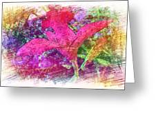The Red Orchid Greeting Card