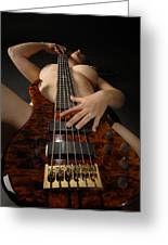 1117 Nude Woman With Guitar Greeting Card
