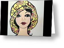 Flapper Girl Claire Greeting Card