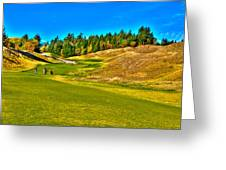#12 At Chambers Bay Golf Course - Location Of The 2015 U.s. Open Championship Greeting Card