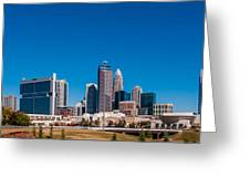 Charlotte City Skyline Autumn Season Greeting Card