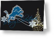Detroit Lions Greeting Card