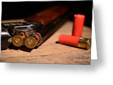 12 Gauge Over And Under Shotgun Greeting Card
