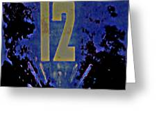 12 In  Blue Greeting Card