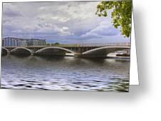 London Thames Bridges  Greeting Card