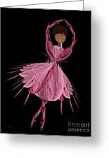 12 Pink Ballerina Greeting Card