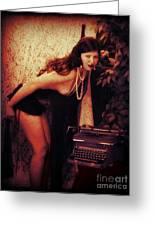 Typewriter Erotica Greeting Card