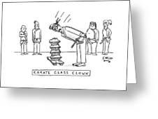 Karate Class Clown Greeting Card