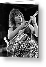 Guitarist Eddie Van Halen Greeting Card