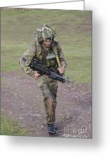 Welsh Guards Training Greeting Card