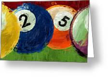 1258 Billiards Greeting Card