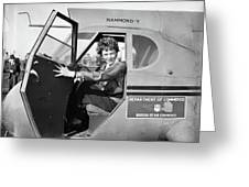 Amelia Earhart (1897-1937) Greeting Card