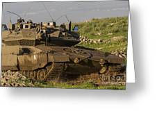 An Israel Defense Force Merkava Mark Iv Greeting Card