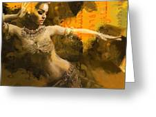 Belly Dancer Greeting Card by Corporate Art Task Force