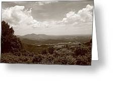 Blue Ridge Mountains - Virginia Sepia 8 Greeting Card