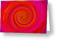 Red Energy-spiral Greeting Card