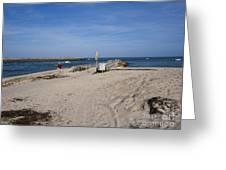 Fishing At Sebastian Inlet In Florida Greeting Card